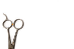 bakgrund scissors white Royaltyfri Fotografi