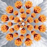 Bakgrund seamless modell, orange tulpan Royaltyfri Foto