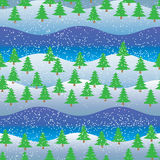 Bakgrund seamless modell, spruce skog Arkivfoton