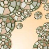 bakgrund shells snailen Fotografering för Bildbyråer