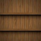 bakgrund shelves den trävektorn Royaltyfri Fotografi