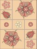 bakgrund skapar designelement som är blom- till Royaltyfri Fotografi