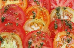 bakgrund skivar tomaten royaltyfri foto