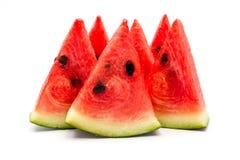 bakgrund skivar vattenmelonwhite Royaltyfria Bilder