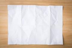 bakgrund skrynklig paper texturwhite Arkivbilder