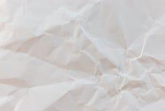 bakgrund skrynklig paper texturwhite Arkivfoto