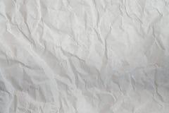 bakgrund skrynklig paper texturwhite Arkivbild