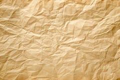 bakgrund skrynkligt papper Royaltyfri Fotografi