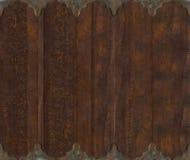 bakgrund snidit wood arbete för metallscroll Arkivfoto
