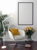 Bakgrund solo för stol- och mellanrumsbildram Royaltyfri Foto