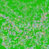 Bakgrund som är färgrik och som är abstrakt med fjärilar Arkivbild