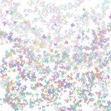 Bakgrund som är färgrik och som är abstrakt med fjärilar Fotografering för Bildbyråer