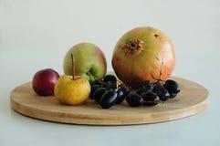 Bakgrund som är ny, växt, höst, frukt, nedgång som är sund, korg som är organisk, mat, skörd, äpple, jordbruk, saftigt som är vår arkivfoton