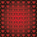 Bakgrund som är seamless mönstrar, hjärtor Fotografering för Bildbyråer