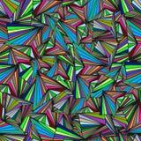 Bakgrund som består av trianglar av olika färger Royaltyfria Foton