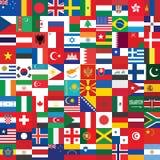 Bakgrund som göras av flaggasymboler royaltyfri illustrationer