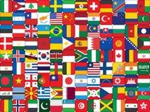 Bakgrund som göras av flaggasymboler stock illustrationer