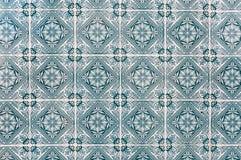 Bakgrund som gjordes av portugisiska keramiska tegelplattor, kallade azulejos royaltyfria foton