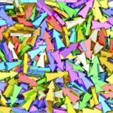 Bakgrund som komponeras av många färgrika små pilar Royaltyfria Bilder