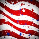 Bakgrund som simulerar amerikanska flaggan Royaltyfria Bilder