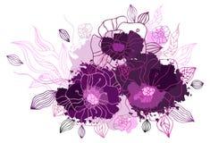bakgrund som tecknar den blom- handen Arkivbilder