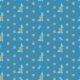 bakgrund som tecknar den seamless vektorn för blom- blommor Royaltyfria Bilder