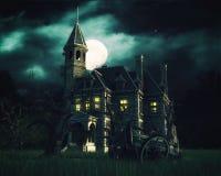 bakgrund spökat hus Arkivfoton