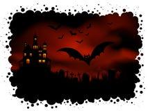 bakgrund spöklika halloween vektor illustrationer