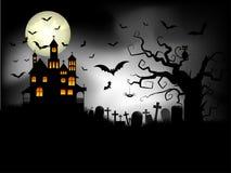 bakgrund spöklika halloween royaltyfri illustrationer