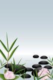 bakgrund stenar zen Arkivfoto
