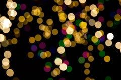 bakgrund suddigheta jullampor Royaltyfria Foton