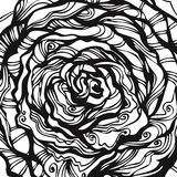 bakgrund tecknad blom- hand vektor illustrationer