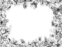 bakgrund tecknad blom- hand Royaltyfria Bilder