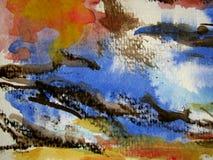 bakgrund texturerad vattenfärg Arkivbild