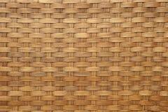 Ljust - brunt vävd bambu Royaltyfri Fotografi