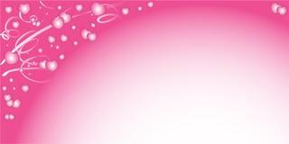 Bakgrund till valentin dag med hjärtor Royaltyfri Bild