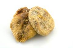 bakgrund torkade figs isolerade white Royaltyfria Foton