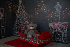 bakgrund undersöker år för toys för mörk afton nytt s för julsammansättning temat för fyrkanten för målningen för den abstrakt fa Arkivbilder