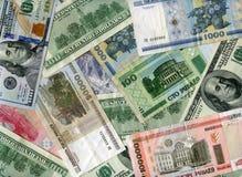Bakgrund US dollar- och Vitryssland rubel Royaltyfri Bild