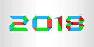 Bakgrund 2018, vektor, illustration, Eps-mapp för nytt år Arkivfoto