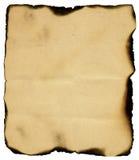 bakgrund vit bränd isolerad paper tappning royaltyfria bilder