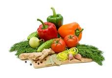 bakgrund vita isolerade grönsaker Arkivfoton