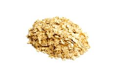 bakgrund vita isolerade oats royaltyfria foton