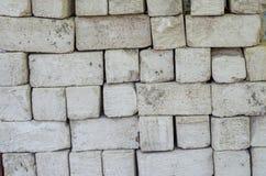 Bakgrund vita tegelstenar Arkivfoto