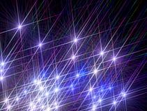 Bakgrunden av att skina färgrika stjärnor på en svart bakgrund vektor illustrationer