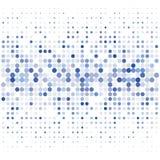 Bakgrunden av blåa prickar av olika format på vit vektor illustrationer