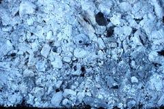 Bakgrunden av bränt till kol vitt kol Royaltyfri Foto