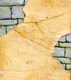 Bakgrunden av den gamla väggen Arkivbild