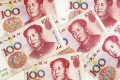 Bakgrunden av kinesiska pengar Arkivbilder