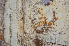 Bakgrunden för grunge för tappning den rostigt texturerade stål Arkivbild